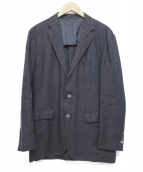 UNITED ARROWS TOKYO(ユナイティッドアローズトウキョウ)の古着「リネンテーラードジャケット」|ネイビー