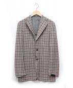 SARTORIO(サルトリオ)の古着「チェックテーラードジャケット」 レッド×グレー