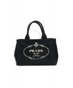 PRADA(プラダ)の古着「キャンバスハンドバッグ」|ブラック