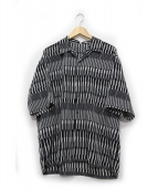 ABAHOUSE(アバハウス)の古着「幾何学柄オープンカラー半袖シャツ」|グレー