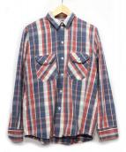 Wrangler×Ron Herman(ラングラー×ロンハーマン)の古着「チェックシャツ」|レッド×ブルー