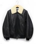 BEAUTY&YOUTH(ビューティーアンドユース)の古着「シープボアカラーブルゾン」|ブラック×ホワイト