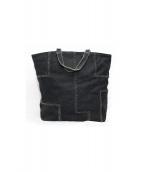 BOTTEGA VENETA(ボッテガヴェネタ)の古着「デザインキャンバストートバッグ」|ブラック