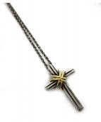 Tiffany & Co.(ティファニーアンドコー)の古着「クロスモチーフネックレス」 シルバー×ゴールド
