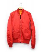 ALPHA(アルバ)の古着「フライトジャケット」|レッド