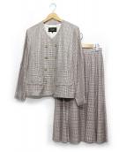 LEILIAN(レリアン)の古着「スカートスーツ」|レッド×ブラック