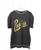 ISAMU KATAYAMA BACKLASH(イサムカタヤマバックラッシュ)の古着「グランジ加工Tシャツ」|グレー