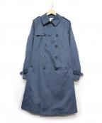 UNITED TOKYO(ユナイテッドトウキョウ)の古着「ボンディングギャバトレンチコート」|ブルー