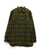 ATLAST & CO(アットラスト)の古着「チェックワークシャツ」|イエロー×ブラック