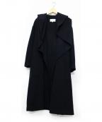 ENFOLD(エンフォルド)の古着「ラムウールリバーコート」|ネイビー