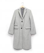 HUMAN WOMAN(ヒューマンウーマン)の古着「ウールチェスターコート」|グレー