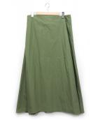 dahlia(ダリヤ)の古着「ウエストゴム巻きスカート」 オリーブ