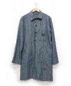 GLOSTER × GUNG HO(グロスター×ガンホー)の古着「別注リネンタンガリーショップコート」|ブルー