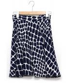 MIU MIU(ミュウミュウ)の古着「総柄スカート」|ネイビー×ホワイト