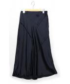 VINCE(ヴィンス)の古着「シルクテバイアススカート」|ネイビー