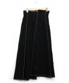 AMERI(アメリヴィンテージ)の古着「STITCH PANEL SKIRT」|ブラック