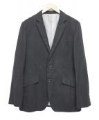 TAKEO KIKUCHI(タケオキクチ)の古着「ハウンズトューススウェード調ジャケット」|ブラック