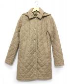 Traditional Weatherwear(トラディショナルウェザーウェア)の古着「フーデッド裏起毛キルティングコート」 ベージュ