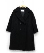 dun a dix(アナディス)の古着「モヘヤウールダブルコート」|ブラック