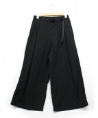 GRAMICCI(グラミチ)の古着「WEATHER BAGGY PANTS」|ブラック