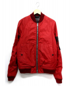 COACH(コーチ)の古着「MA-1ジャケット」|レッド