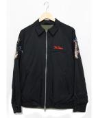 CRIMIE(クライミ)の古着「リバーシブルスーベニアジャケット」|ブラック×オリーブ
