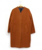 NOMBRE IMPAIR(ノンブルアンペール)の古着「ノーカラーコート」 ブラウン