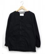 WHITE MOUNTAINEERING(ホワイトマウンテニアリング)の古着「ジップシャツ」|ブラック