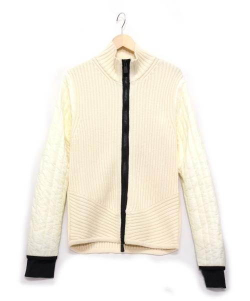 MONCLER GRENOBLE(モンクレール グルノーブル)MONCLER GRENOBLE (モンクレール グルノーブル) MAGLIONE TRICOT CARDIGAN アイボリー サイズ:Lの古着・服飾アイテム