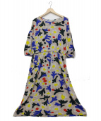 mina perhonen(ミナ ペルホネン)の古着「ウールワンピース」|マルチカラー