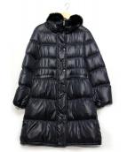 BRAHMIN(ブラーミン)の古着「フォックスファーカラーダウンコート」|ネイビー