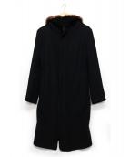 LIMI feu(リミフゥ)の古着「襟ファーコート」|ブラック