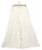 ELIZABETH AND JAMES(エリザベスアンドジェームス)の古着「ドットタックワイドパンツ」|ホワイト×ブラック