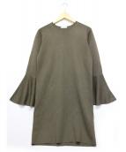 UNITED ARROWS(ユナイテッドアローズ)の古着「ベルスリーブワンピース」|グレー