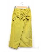 ELIN(エリン)の古着「リボンスカート」|イエロー