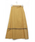 ELIN(エリン)の古着「カットワーク切替スカート」|ブラウン