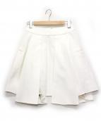 CINOH(チノ)の古着「ダブルボックスプリーツスカート」|ホワイト