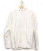 ATON(エイトン)の古着「プルオーバーパーカー」 ホワイト