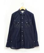Wrangler(ラングラー)の古着「デニムウエスタンシャツ」|インディゴ