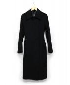 INED(イネド)の古着「カシミヤ比翼コート」 ブラック