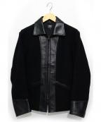RATS(ラッツ)の古着「ウール×レザースポーツジャケット」 ブラック