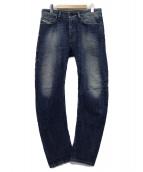 DIESEL(ディーゼル)の古着「USED加工デニムパンツ」|インディゴ