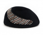 Misa Harada(ミサハラダ)の古着「ラビットウールベレー帽」|ブラック