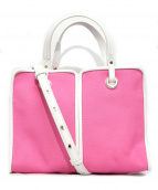 Kate Spade(ケイトスペード)の古着「2WAYショルダーバッグ」|ピンク×ホワイト