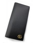 GUCCI(グッチ)の古着「二つ折り長財布」|ブラック