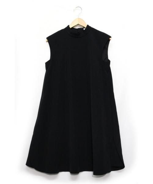 Mystrada(マイストラーダ)Mystrada (マイストラーダ) ノースリーブワンピース ブラック サイズ:38の古着・服飾アイテム