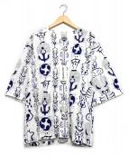 WACKO MARIA(ワコマリア)の古着「DABO SHIRT」|ホワイト×ブルー