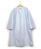 UNITED ARROWS TOKYO(ユナイティッドアローズトウキョウ)の古着「バイカラーノーカラーコート」|スカイブルー