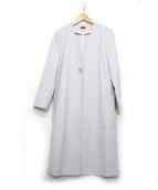despres(デ・プレ)の古着「コットンレーヨンAラインノーカラーコート」|ラベンダー