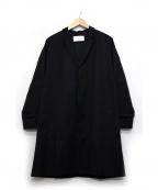 ASTRAET(アストラット)の古着「コットンギャバチェスターコート」|ブラック